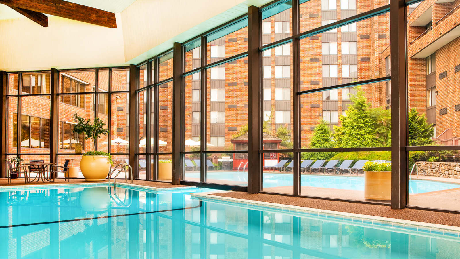 Hotel outdoor pool  Hotel Features | Sheraton Harrisburg Hershey Hotel